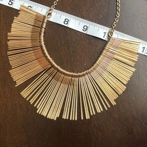 Francesca's Collections Jewelry - Rebecca Sandblast Fringe Statement Necklace